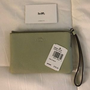 Authentic Coach wallet mint green